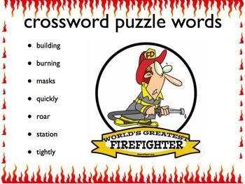 Firefighter Crossword Puzzle