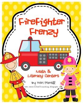Firefighter Frenzy Math & Literacy Activities
