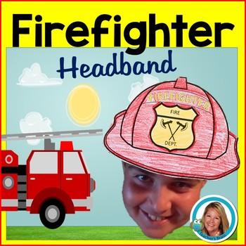 Firefighter Hat Headband Fire Safety Week