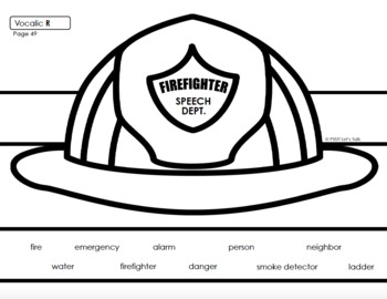 Firefighter Hats for Speech Therapy