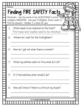 Fire Safety With Firefighter Jenna~Book and Activities Pack
