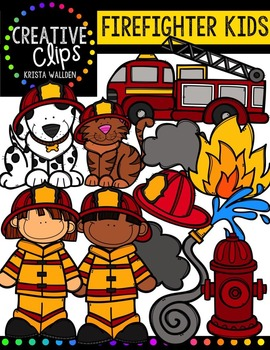 Firefighter KIDS {Creative Clips Digital Clipart}