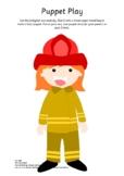 Firefighter Language Activity: Puppet Show Fun