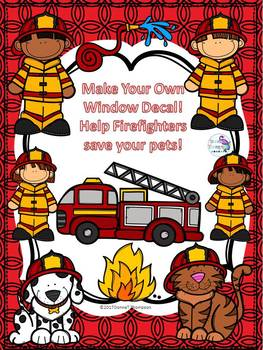 Firefighter: Window Decal (Make Your Own For Pets)