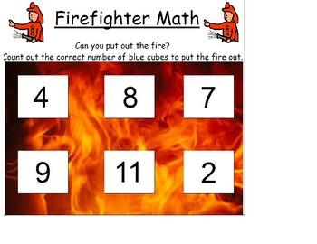 Firefighter Math/Community Helpers