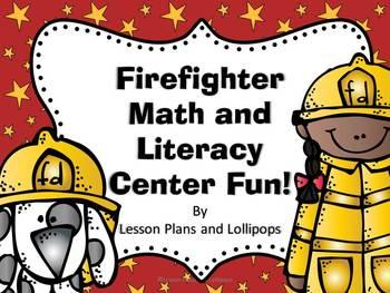 Firefighter Math and Literacy Center Fun!