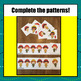 Firefighter Pattern Cards & Worksheet - S