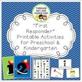 Firefighter & Police Officer Printable Activities for Preschool and Kindergarten