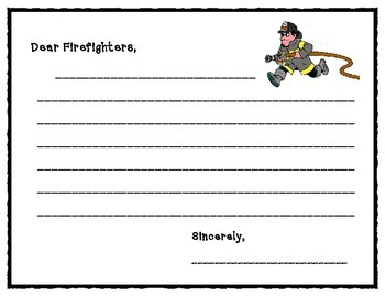 firefighter police officer thank you letters by coffeyhouse creations