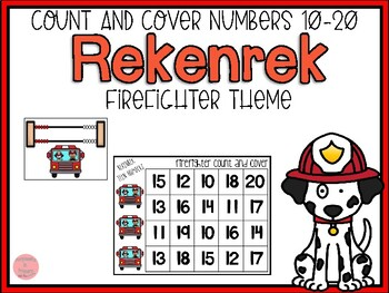 Firefighter Rekenrek Count and Cover Numbers 10-20