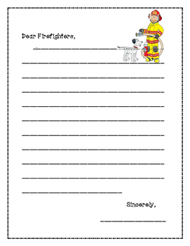 Firefighter Thank You Letter