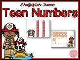 Firefighter Theme Teen Numbers