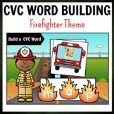 Firefighter Themed CVC Word Building Pack