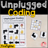 Firefighter Unplugged Coding Activity for Beginners (Engli