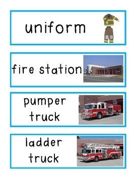 Firefighter Vocabulary