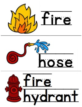 Firefighter Vocabulary Cards [#TeacherMom]