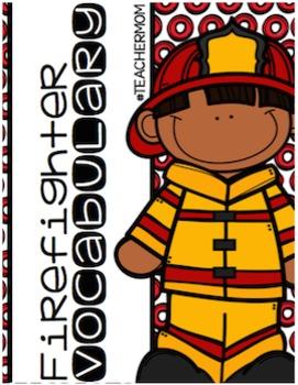 Firefighter Vocabulary Cards [#TeacherMom]