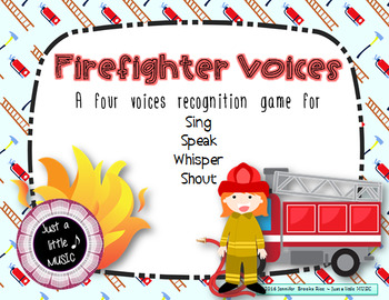 Firefighter Voices -- An Interactive Four Voices Recognition Game (shouting ed)