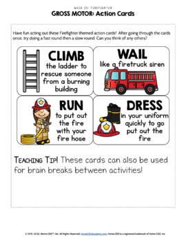 Firefighter Community Helper - Weekly Unit for Preschool, PreK or Homeschool