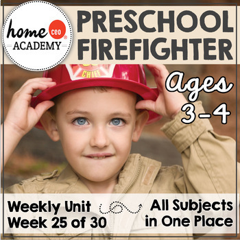 Firefighter Community Helper - Weekly Unit for Preschool, PreK or Homeschool