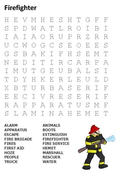 Firefighter Word Search