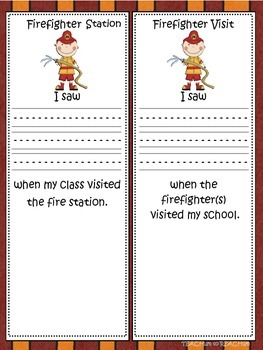 Firefighter and Fire Station Visit Writing Activity