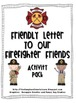 Firefighter and Police Officer Friendly Letter Combo Pack