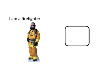 Firefighter as a Community Helper Interactive Book for Kids with Autism