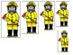 Firefighter themed Size Sequence. Printable Preschool Game