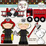 Firefighters 1-  Digi Clip Art/Digital Stamps - CU Clip Art
