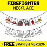 Firefighters Activity Necklace Craft