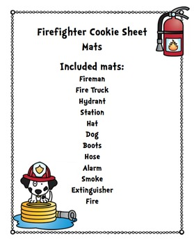 Firefighters Cookie Sheet Mats