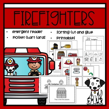 Firefighters Emergent Reader and Mini Literacy Set