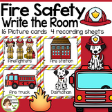 Fire Safety Write the Room -16 cards four versions, four recording sheets