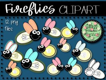 Fireflies Clip Art