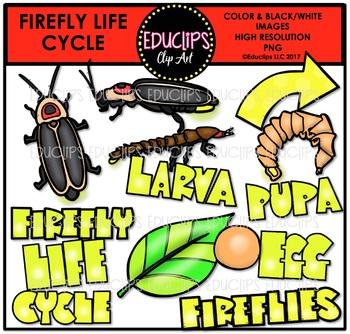 Fireflies Clip Art Big Bundle {Educlips Clipart}