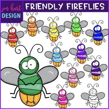 Firefly Clip Art - Friendly Fireflies {jen hart Clip Art}