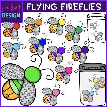 Firefly Clip Art- Flying Fireflies {jen hart Clip Art}