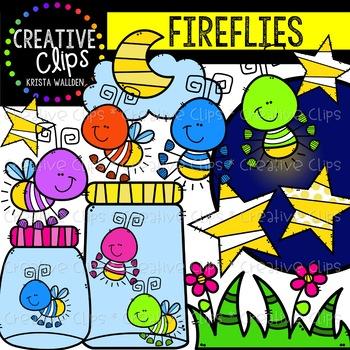Fireflies Clipart {Creative Clips Clipart}