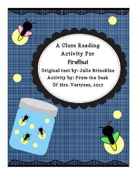 Fireflies! Close Reading Activity