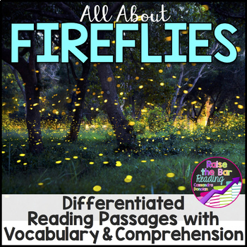 Fireflies Differentiated Reading Passages with Vocabulary & Comprehension