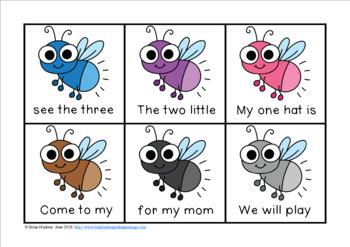 Fireflies Fluency Phrases Race