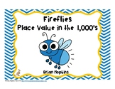 Fireflies Place Value in the Thousands Task Cards