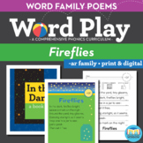 Fireflies - ar Word Family Poem of the Week - R Controlled Vowel Fluency Poem