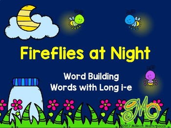 Fireflies at Night - Long i-e Word Building Interactive PowerPoint