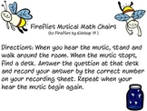 Fireflies theme musical chairs activity (math but can be a