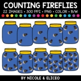 Summer Firefly Counting Clipart