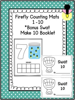 Firefly Counting Mats 1-10 & Swat Make 10 Booklet