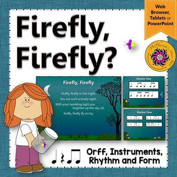 Music Lesson ~ Firefly, Firefly: Orff, Rhythm & Instruments {Eighth Notes}