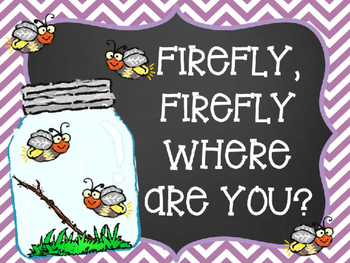 Firefly, Firefly Where Are You Positional Words Book